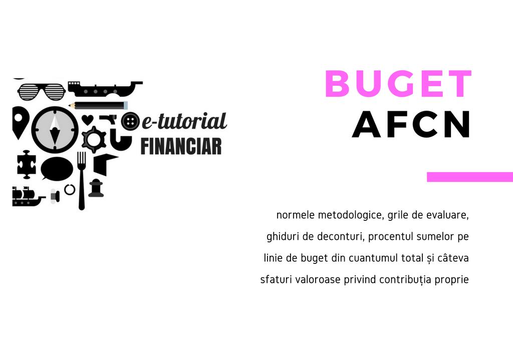 E-tutorial. Construcția unui buget AFCN